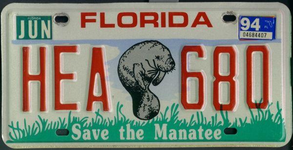 USA Nummernschild / Kennzeichen / License Plate Florida